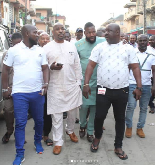 Welcome To Ladun Liadi's Blog: Mc Oluomo returns from Turkey, goes on  inspection of destroyed properties in Oshodi [photos/videos]