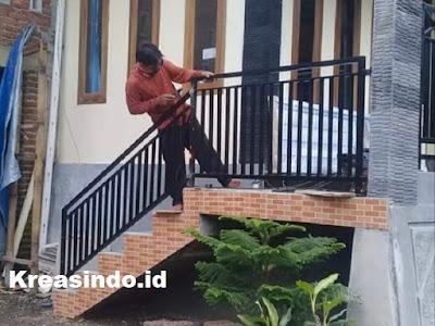 harga railing balkon besi murah