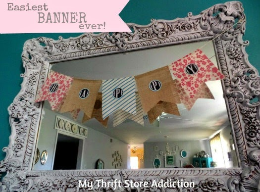 Easy upcycled banner