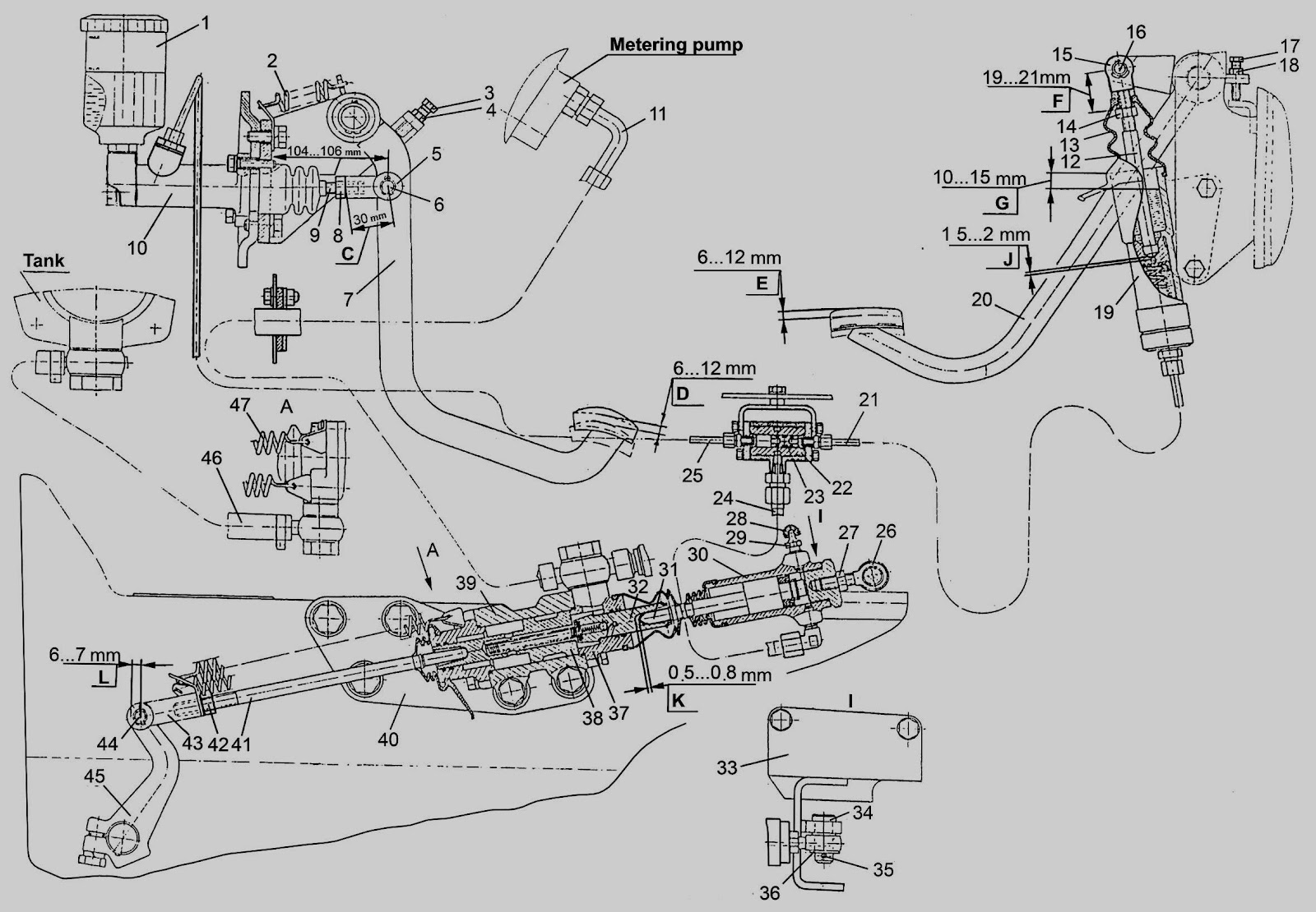 international m tractor engine diagram