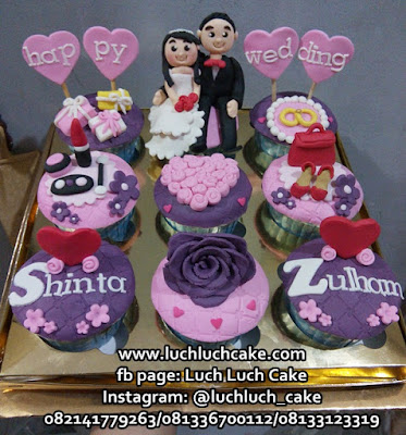 Cupcake Kado Pernikahan - Happy Wedding
