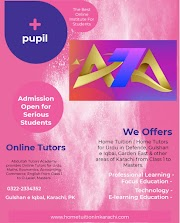 Abdullah Tutors Academy offering Home Tuition for Urdu in Gulberg Town, Musa Colony, Karachi