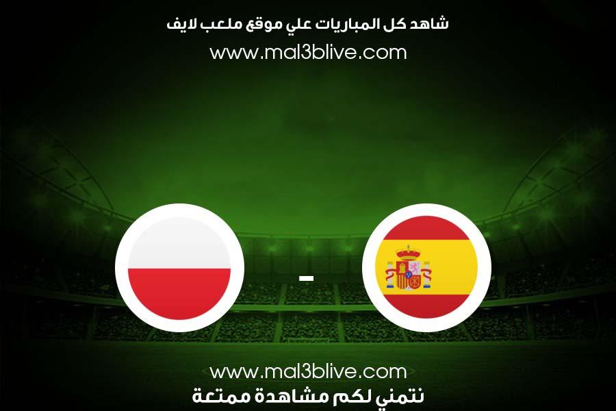 مشاهدة مباراة اسبانيا وبولندا بث مباشر اليوم الموافق 2021/06/19 في يورو 2020