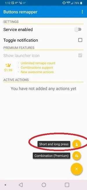كيفية حظر أزرار الصوت على أزرار Android ، ابدأ Remapper