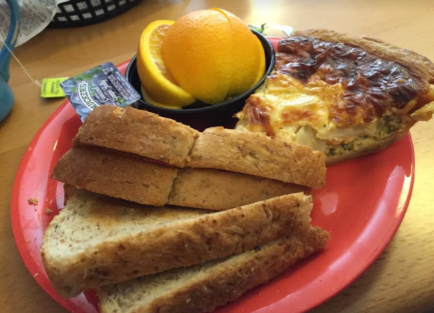 Fresh baked quiche at Hanisch Bakery in Red Wing, Minnesota