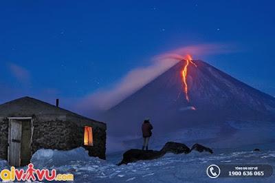 Vẻ đẹp ngoạn mục mà núi lửa mang lại.