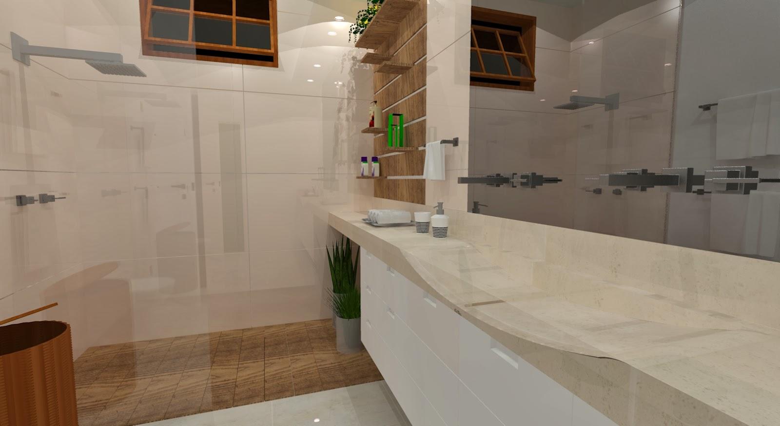 Projeto de reforma de banheiro lily fontana