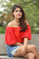 Rhea Chakraborty in Red Crop Top and Denim Shorts Spicy Pics ~  Exclusive 031.JPG