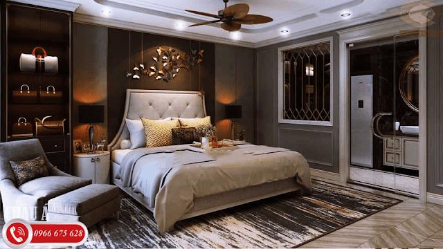 Phòng ngủ rộng rãi của căn chung cư Amber MInh Khai