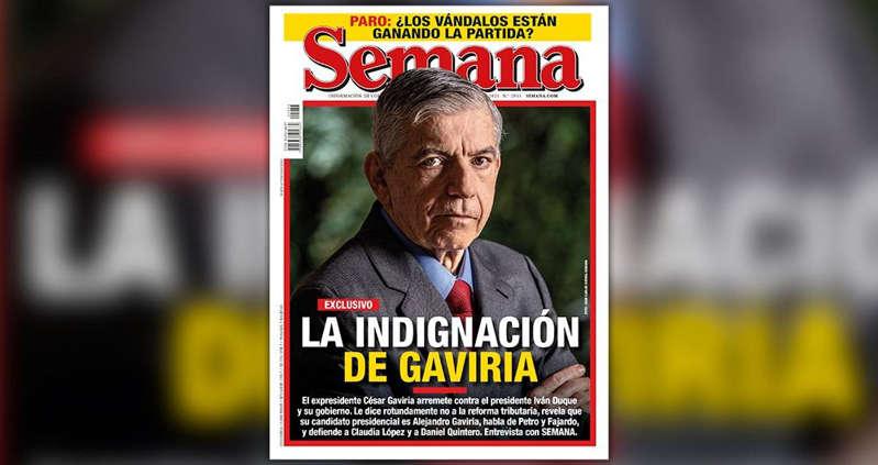 hoyennoticia.com, César Gaviria arremete contra Duque, el gobierno y habla de las presidenciales de 2022