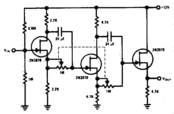 Simple 0A° To 360A° phase shifter Circuit Diagram
