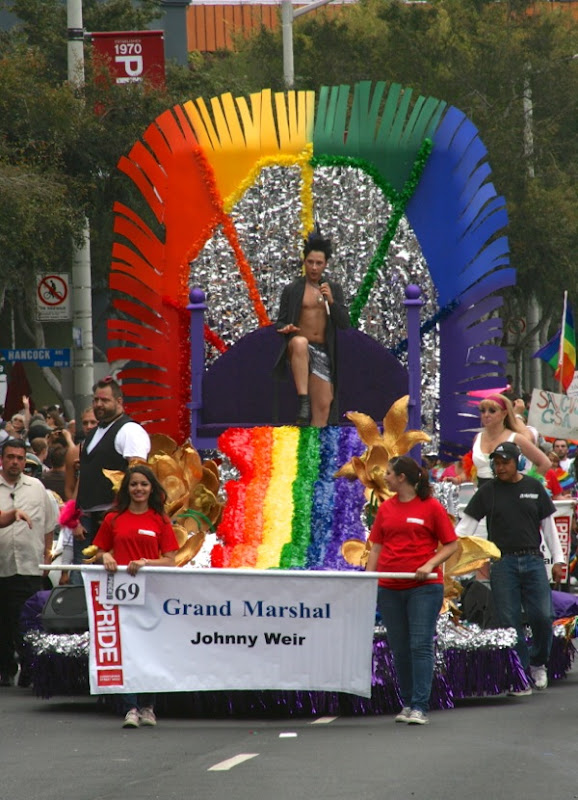 Johnny Weir West Hollywood Pride Parade 2011