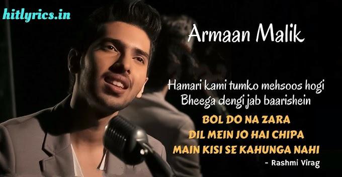 Lyrics of Bol Do Na Zara - Azhar -Armaan Malik