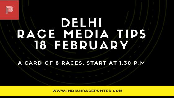 Delhi Race Media Tips 18 Fenruary , India Race Tips by indianracepunter, IndiaRace Media Tips,