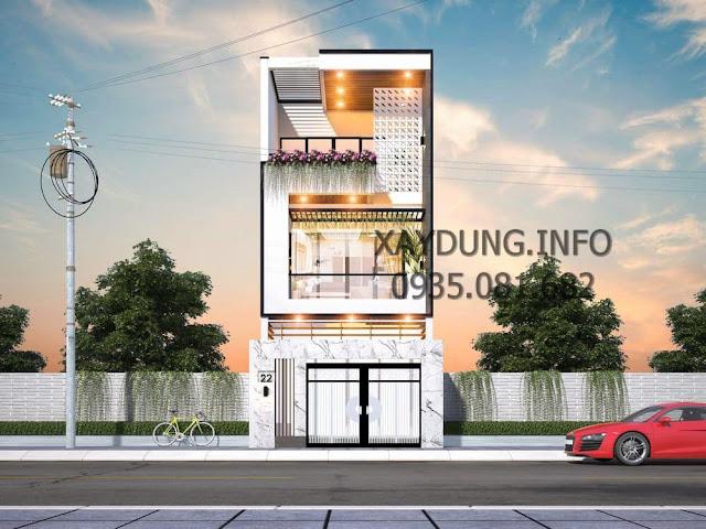 mẫu mặt tiền nhà phố 2.5 tầng