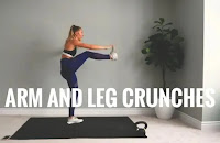 Arms and leg crunches