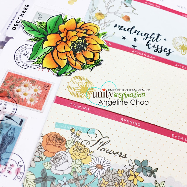 ScrappyScrappy: Midnight Kisses Planner Layout with Unity Stamp #unitystampco #scrappyscrappy #happyplanner #plannerlayout #kom #stamp #stamping #papercraft