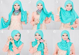 Gambar tutorial hijab pashmina terbaru