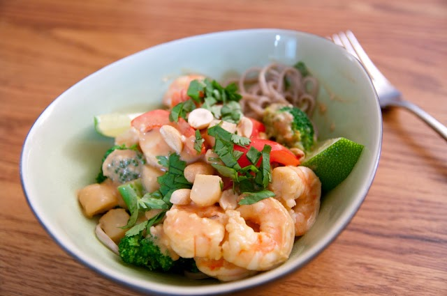 Thai Coconut Shrimp with Soba Noodles Recipe