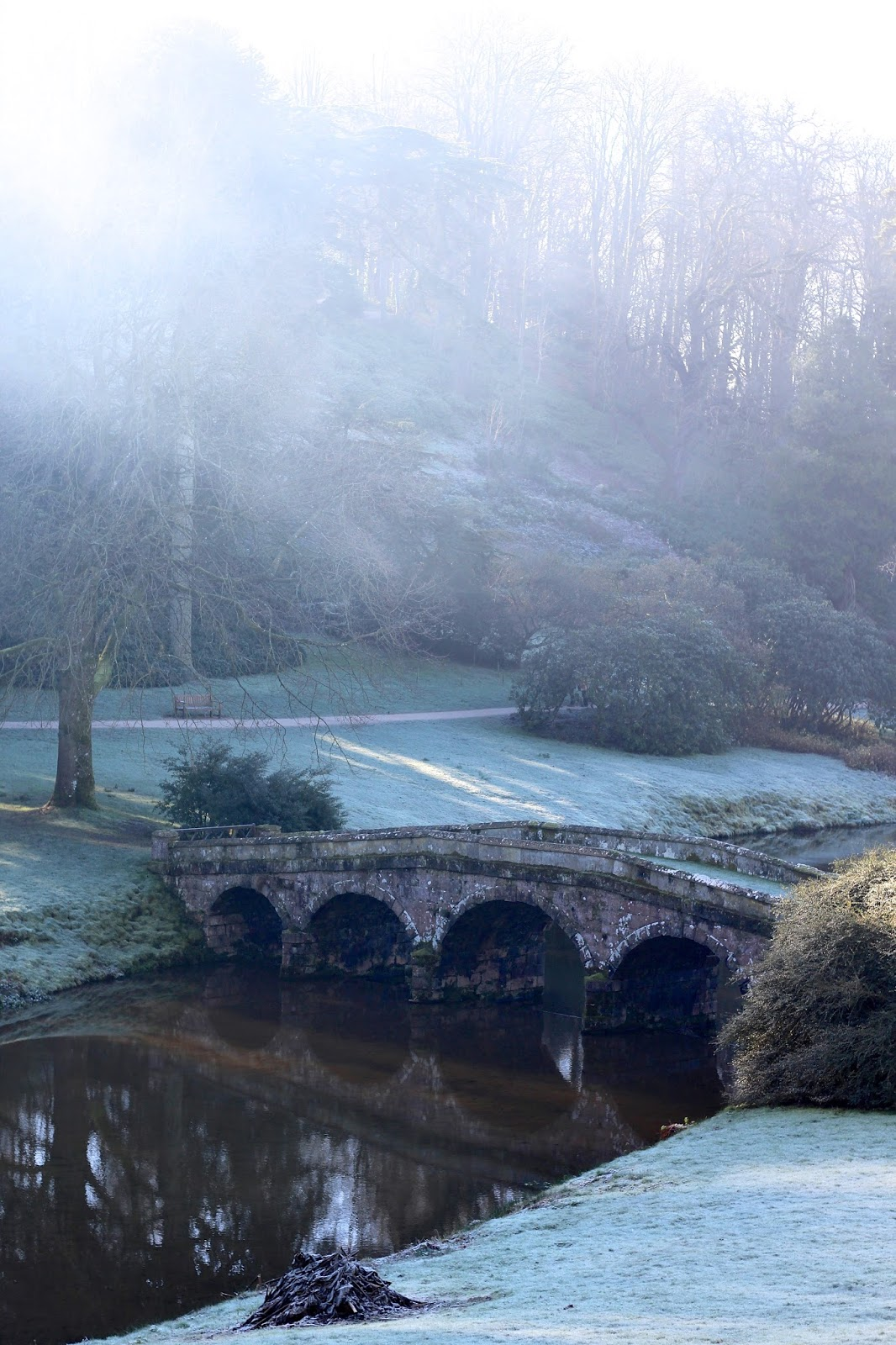 winter blog photography at stourhead