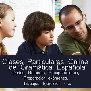 Clases particulares online de gramatica española