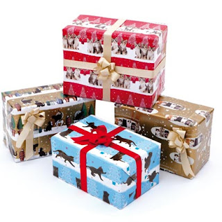Christmas wrapping paper Cats Protection gift shop