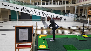 Pop-up Crazy Golf course at Walkden Town Centre