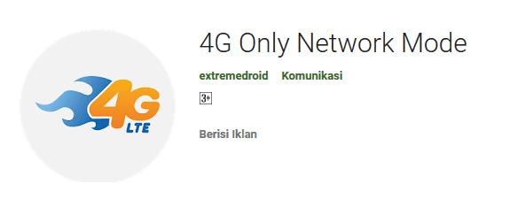Setting Indosat 4G Only Dengan Aplikasi