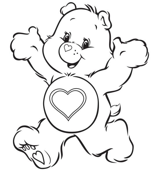 Desenhos Dos Ursinhos Carinhosos Para Colorir Pintar