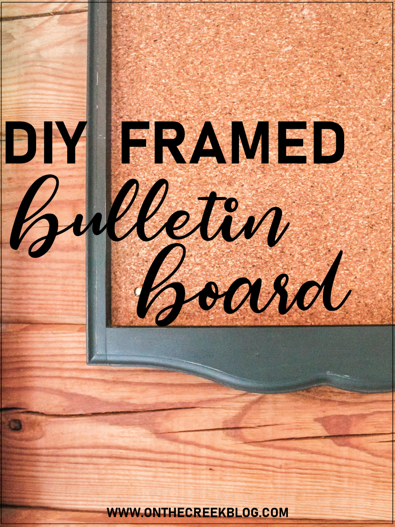 Super easy DIY bulletin/cork board using cork board roll! | On The Creek Blog