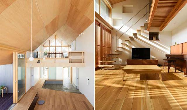 Desain rumah lantai kayu