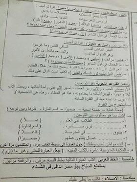 امتحانات عربى ودين نقل ابتدائى 2015 منهاج مصر 10356273_10204541273