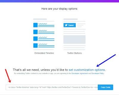 Cara memasang Widged Timeline Twitter di blog