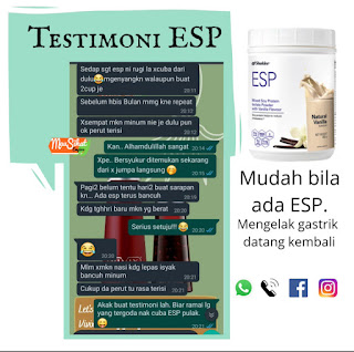 Testimoni ESP untuk Kurangkan Gastrik