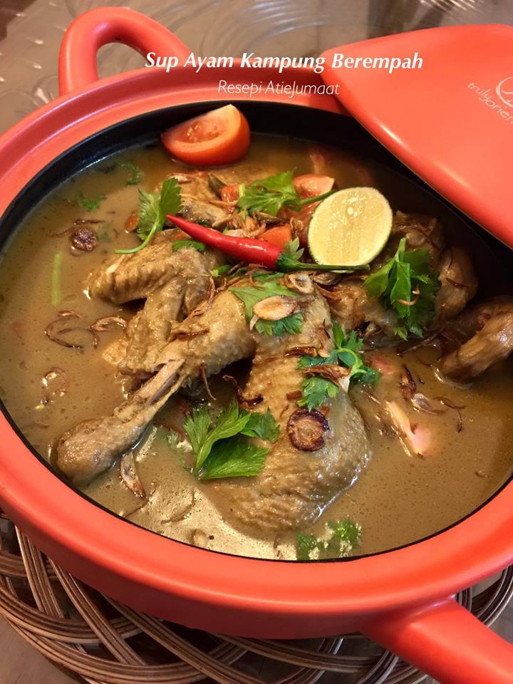 Sup Ayam Kampung : kampung, KAMPUNG, BEREMPAH, Memang, Sedap, Mommy, Kembar