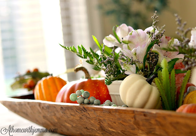 succulents, flowers, breadbowl, decor, styling, fall, dining room, athomewithjemma.com