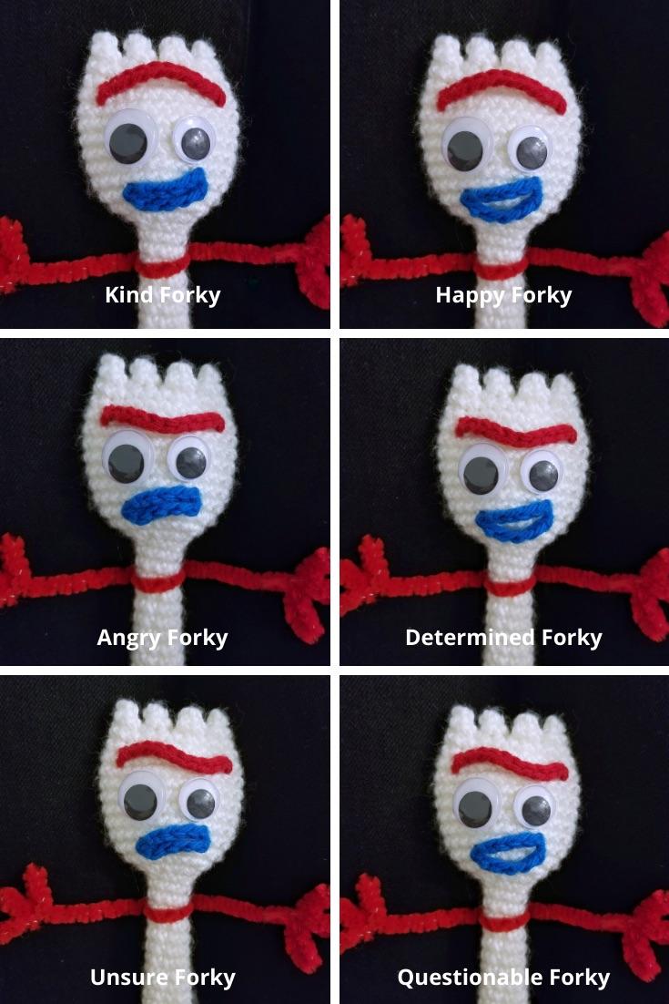 Toy Story 4 Forky Amigurumi Crochet Pattern