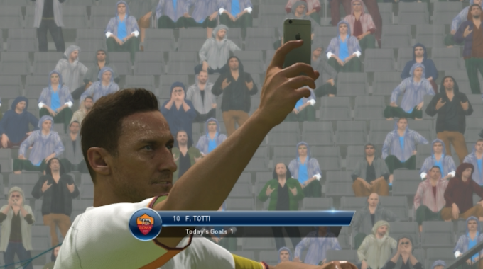 PES2016 : SELFIE GOAL CELEBRATION BY TOTTI