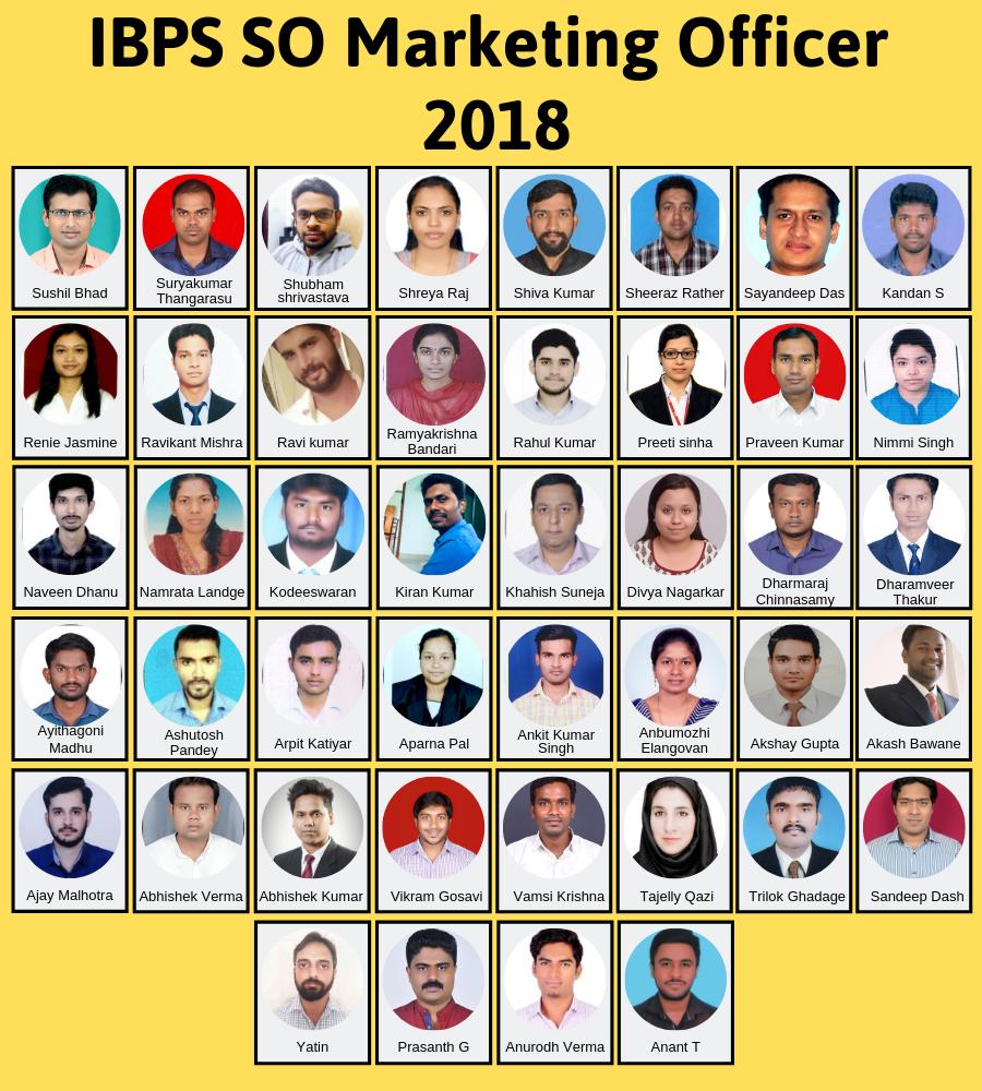 IBPS SO Marketing Officer 2018