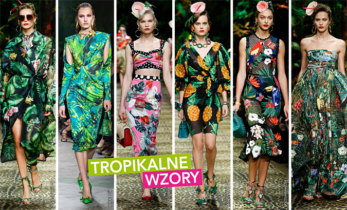 Motywy roslinne tropikalne trendy lato 2020