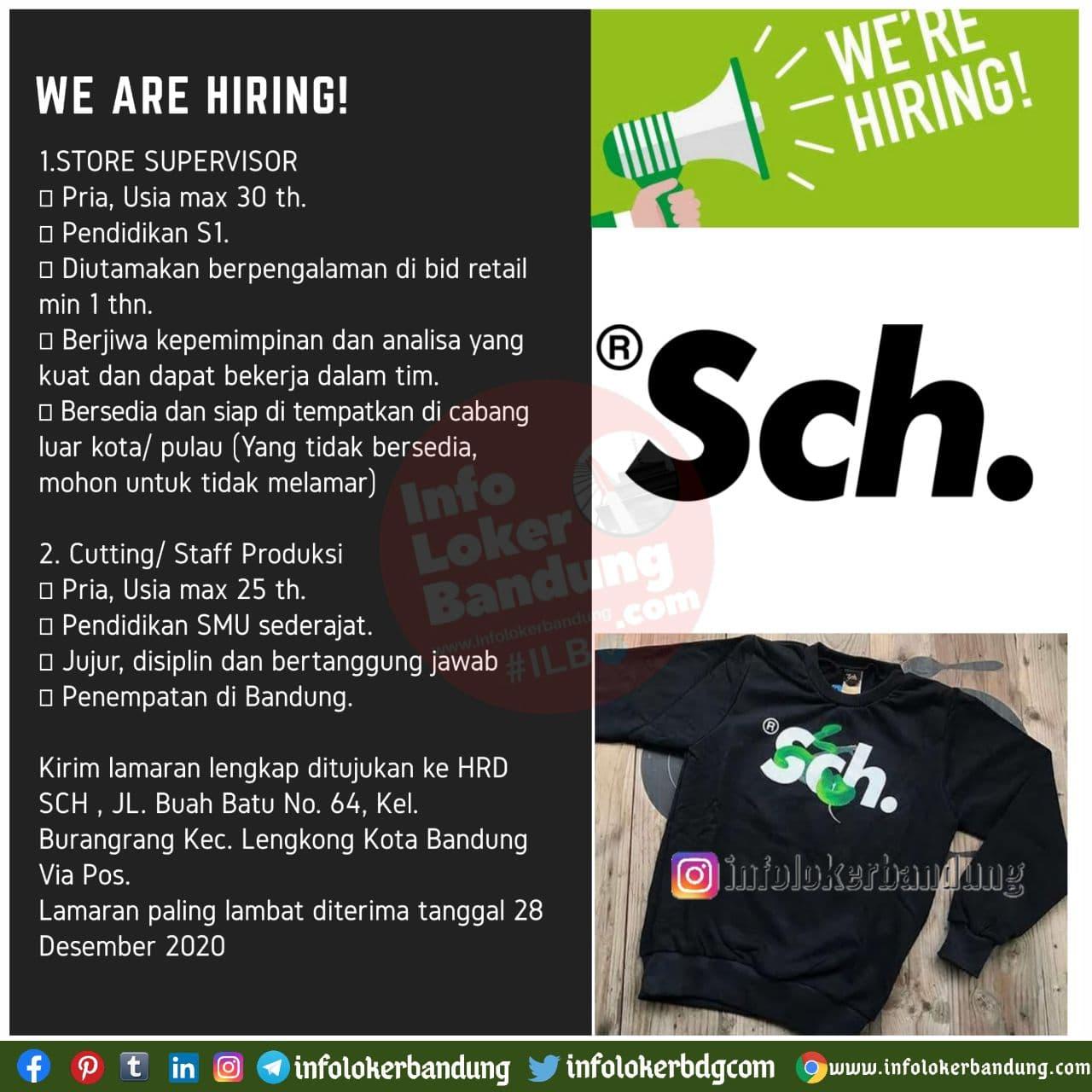 Lowongan Kerja SCH Bandung Desember 2020