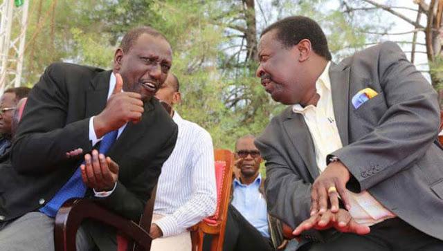 DP William Ruto and ANC boss Musalia Mudavadi on a past event.