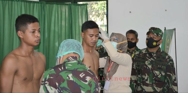 Danrem 141/Tp, Pantau Langsung Penerimaan Calon TAMTAMA (CATA) PK TNI-AD TA 2020