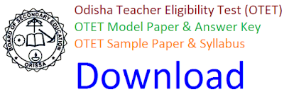 Odisha OTET Model Paper 2017 Answer Key
