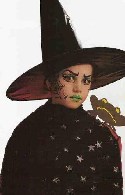 Halloween maquillaje de bruja mala para niña