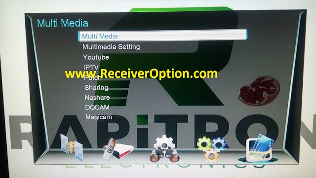 RAPITRON MOXIE 1506G 512 4M NEW SOFTWARE WITH TNT SAT ASTRA 19 EMU