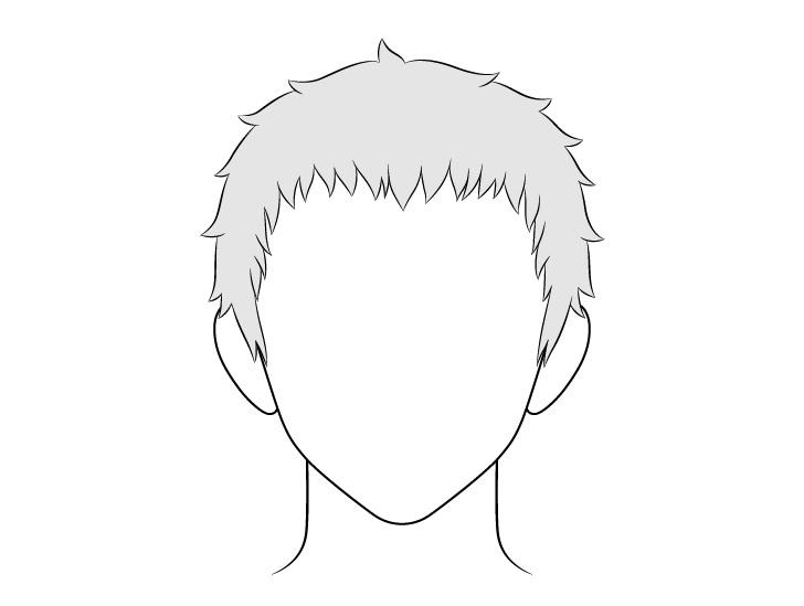 Anime gambar rambut pria pendek