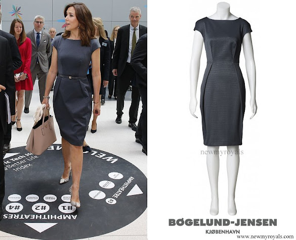 Crown Princess Mary wore SIGNE BOGELUND JENSEN simple dress