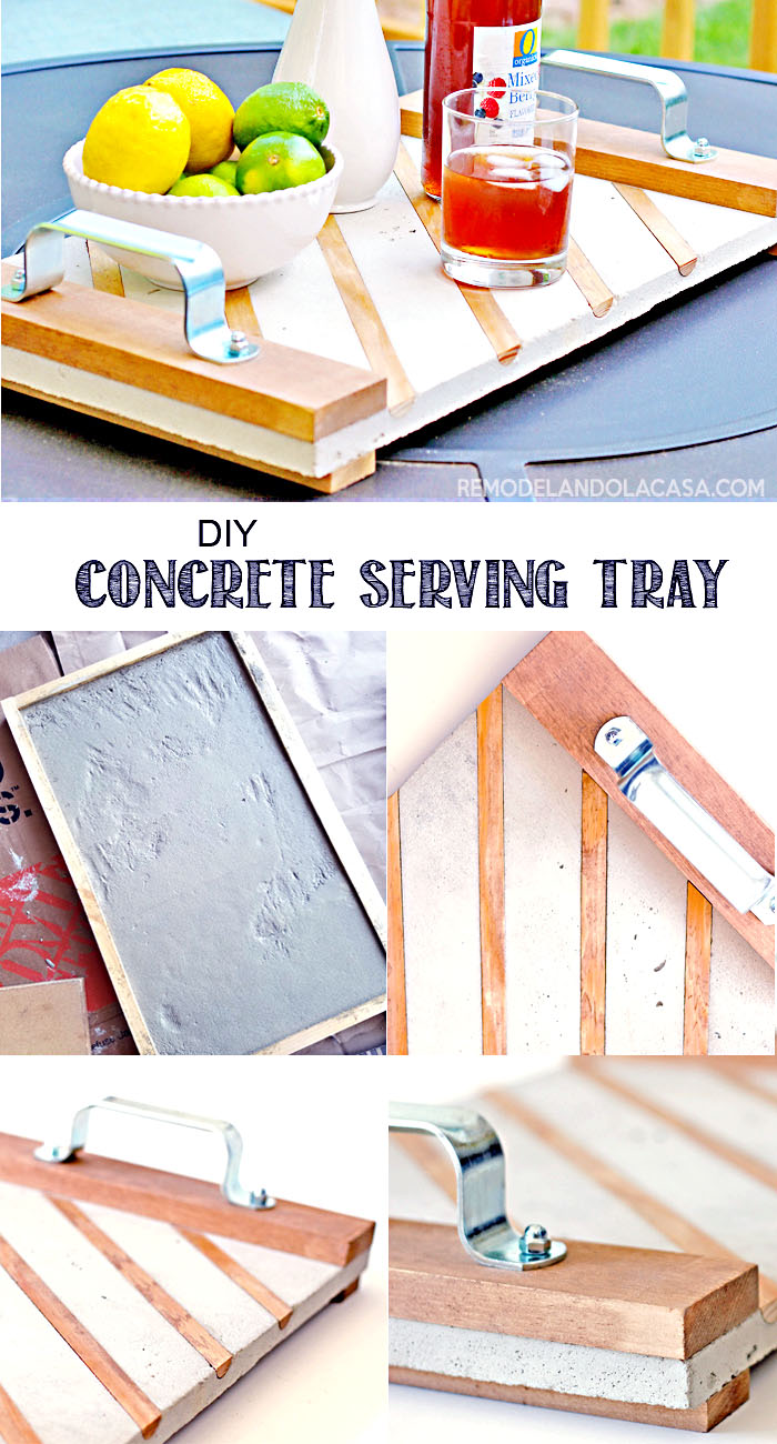 How to make a concrete tray with handles and wooden inlays - The Home Depot workshop