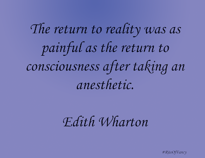 """The return to reality was as painful as the return to consciousness after taking an anesthetic"""